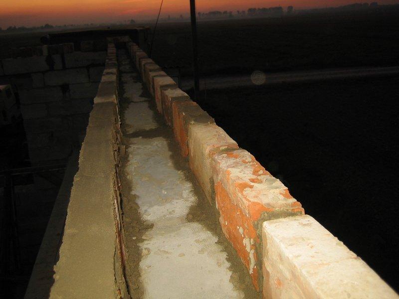армопояс из кирпича на стены